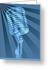 Vintage Microphone Pop Art Greeting Card