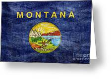 Vintage Montana Flag Greeting Card