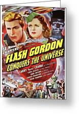 Vintage Movie Posters, Flash Godon Conquers The Universe Greeting Card