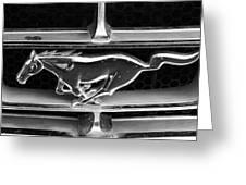 Vintage Mustang Logo Greeting Card