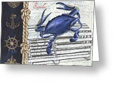 Vintage Nautical Crab Greeting Card