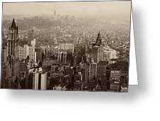 Vintage New York City Panorama Greeting Card