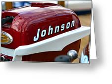 Vintage Johnson Outboard Red  Greeting Card