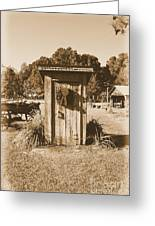 Vintage Outhouse  Greeting Card