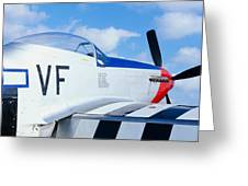Vintage P51 Fighter Aircraft, Burnet Greeting Card