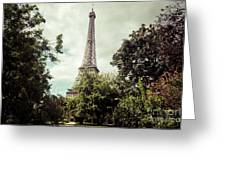 Vintage Paris Landscape Greeting Card