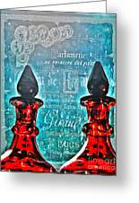 Vintage Paris Perfume Greeting Card