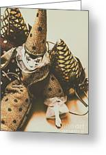 Vintage Party Puppet Greeting Card