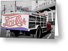Vintage Pepsi Truck Greeting Card