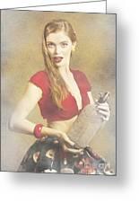 Vintage Perfume Advertisement Circa 2015 Greeting Card