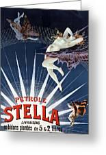 Vintage Petrole Stella Poster Greeting Card