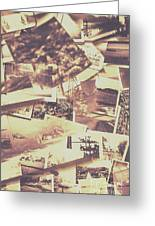 Vintage Photo Design Abstract Background Greeting Card