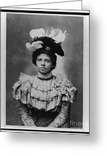 Vintage Photo Of Young Pretty Colored Lady Greeting Card