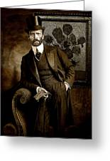 Vintage Photograph Of Vincent Van Gogh - Taken 13 Years After His Death Greeting Card