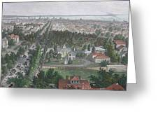 Vintage Pictorial Map Of Buffalo Ny - 1872 Greeting Card