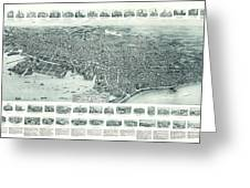 Vintage Pictorial Map Of Lynn Massachusetts - 1916 Greeting Card