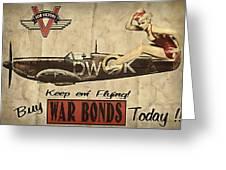 Vintage Pinup Warbond Ad Greeting Card