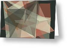 Vintage Polygon Pattern Greeting Card