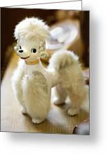 Vintage Poodle Greeting Card