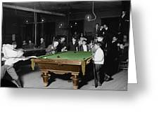 Vintage Pool Hall Greeting Card