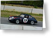 Vintage Porsche 19 Climbing Hill Greeting Card