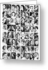 Vintage Portrait Photos Depict Womens Hairstyles Of The 1930s  - Doc Braham - All Rights Reserved. Greeting Card