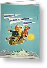 Vintage Poster - Bavarian Alps Greeting Card