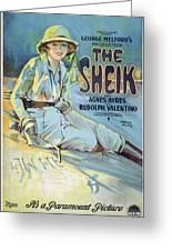 Vintage Poster - The Sheik Greeting Card