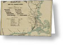 Vintage Railway Map 1865 Greeting Card