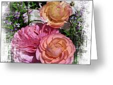 Vintage Ranunculus Greeting Card