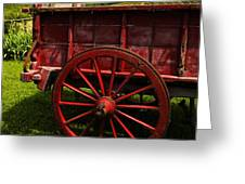Vintage Red Wagon 2 Greeting Card