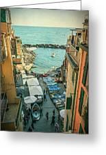 Vintage Riomaggiore Cinque Terre Italy Greeting Card