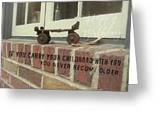 Vintage Roller Skate Quote Greeting Card