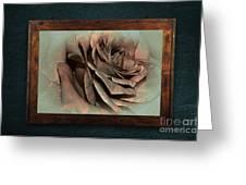 Vintage Rose On Old Wall 2 By Kaye Menner Greeting Card