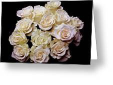 Vintage Roses Bouquet Greeting Card