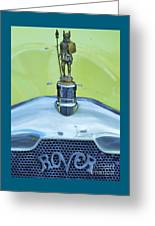 Collectible Vintage Rover Hood Ornament Greeting Card