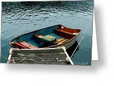 Vintage Rowboat Greeting Card