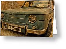 Vintage Rusty Renault Truck Greeting Card