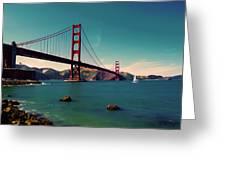 Vintage San Francisco Greeting Card by Niels Nielsen
