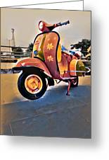 Vintage Scooter Greeting Card