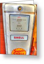 Vintage Shell Gas Pump Greeting Card