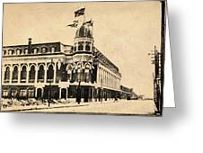 Vintage Shibe Park In Sepia Greeting Card