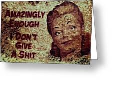 Vintage Sign 2e Greeting Card