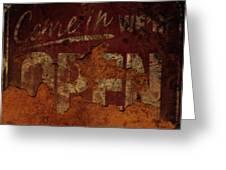 Vintage Sign 89c Greeting Card