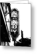 Vintage Sign In Mono Greeting Card