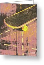Vintage Skateboard Ruling The Road Greeting Card