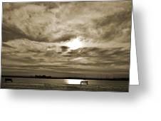 Vintage Sky. Greeting Card