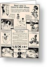 What It Means To Other Women Vintage Soap Ad Greeting Card