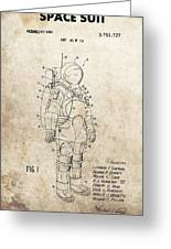 Vintage Space Suit Patent Greeting Card