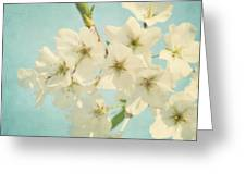 Vintage Spring Blossoms Greeting Card